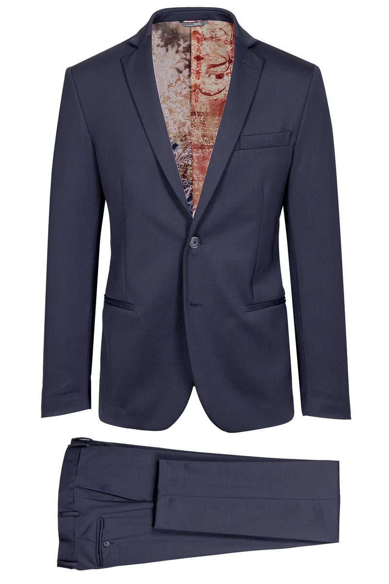 MONTEZEMOLO Men's Clothing - Suits - Bird's Eye Pattern Suit - www.montezemolostore.com