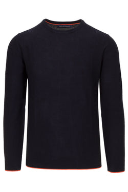 MONTEZEMOLO Men's Clothing - Knitwear - Pure Piquet Cotton Crewneck - www.montezemolostore.com