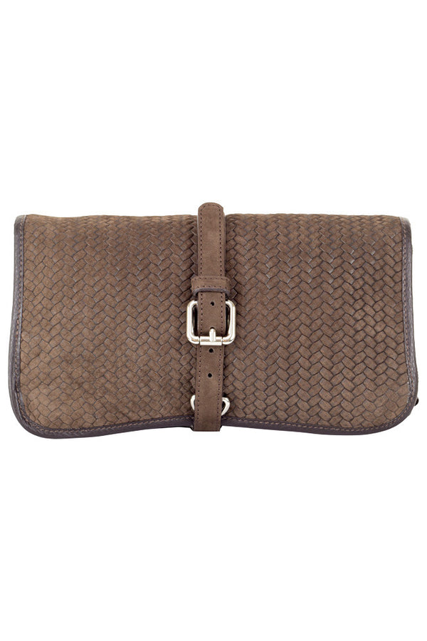 MONTEZEMOLO Men's Clothing - Bag - Intrecciato Nabuk Toiletry Bag - www.montezemolostore.com