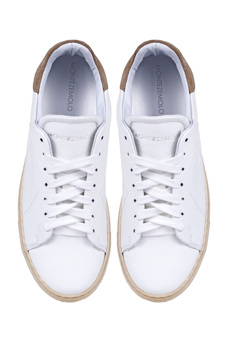 MONTEZEMOLO Men's Clothing - Sneakers - White Leather Sneakers - www.montezemolostore.com