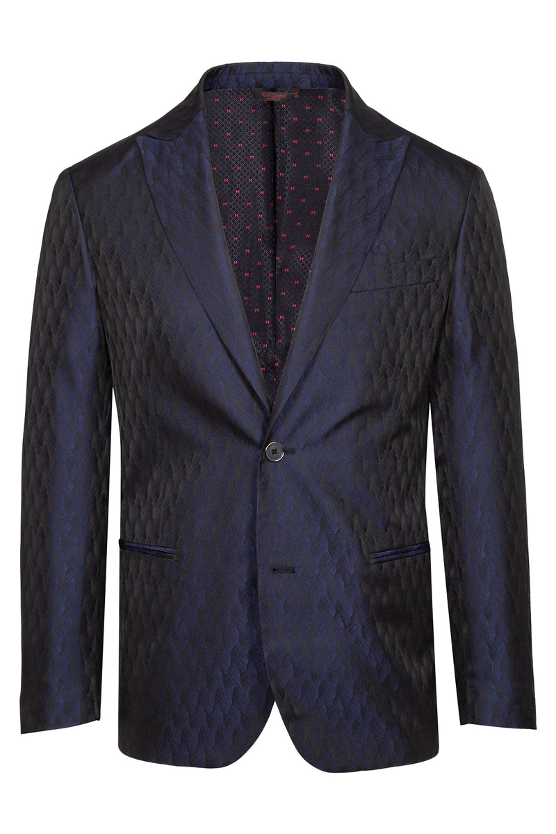 MONTEZEMOLO Men's Clothing - Jackets - Geometric Jacquard Red Carpet Jacket - www.montezemolostore.com