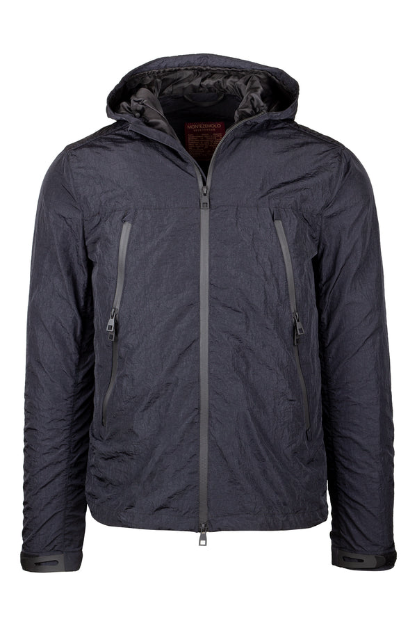 MONTEZEMOLO Men's Clothing - Outerwear - Nylon Bomber with Hood - www.montezemolostore.com