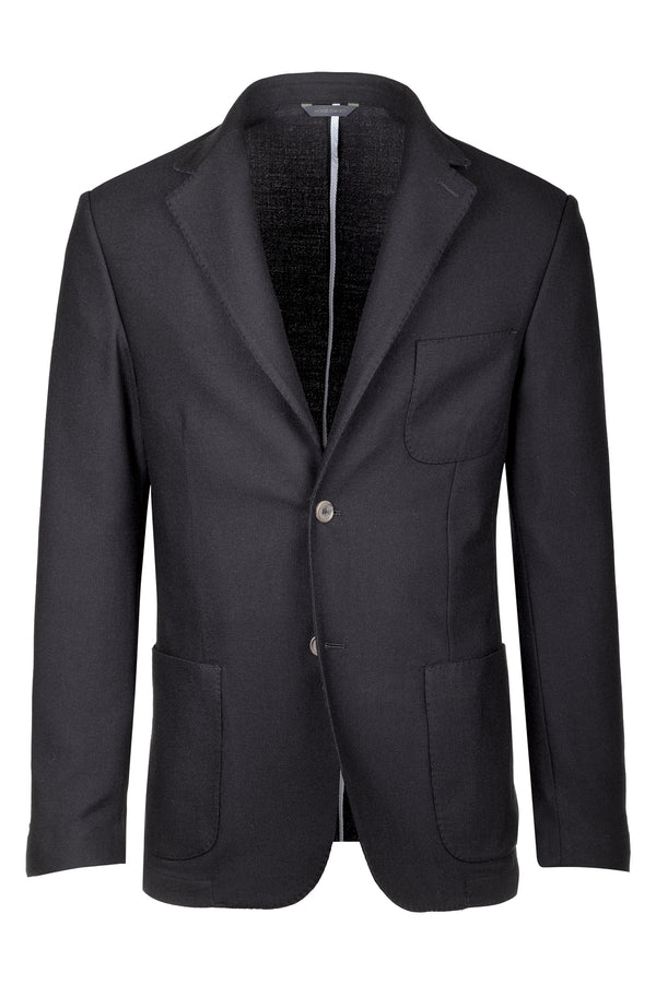 Bird's-Eye Jersey Stretch Wool Jacket