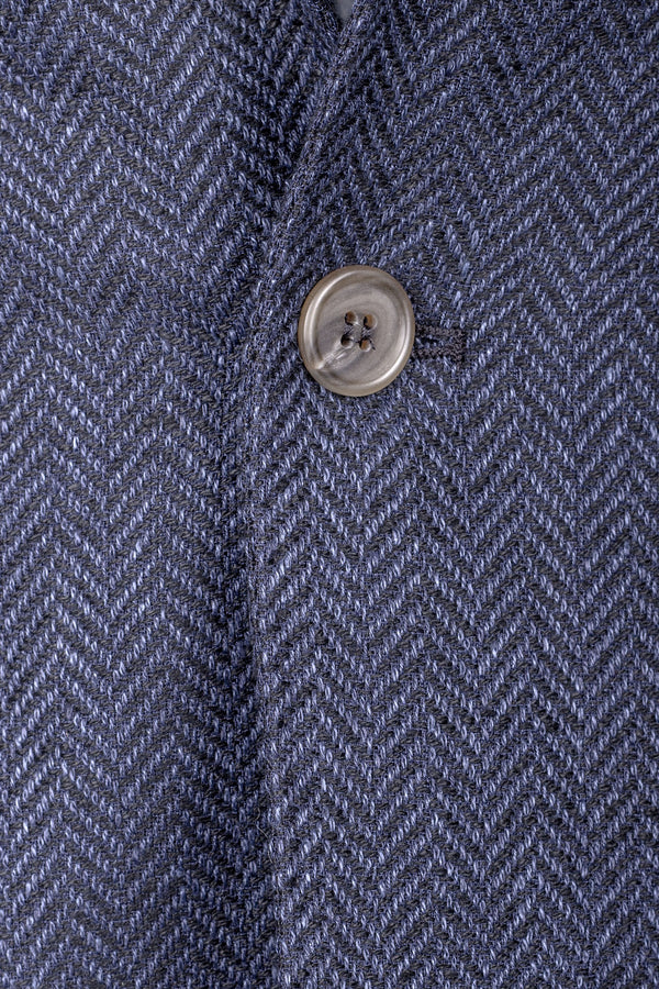 Herringbone Cotton & Silk Jacket