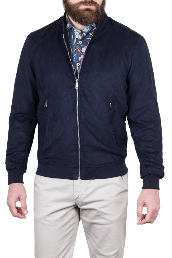 MONTEZEMOLO Men's Clothing - Outerwear - Eco-Suede Leather Bomber Jacket - www.montezemolostore.com
