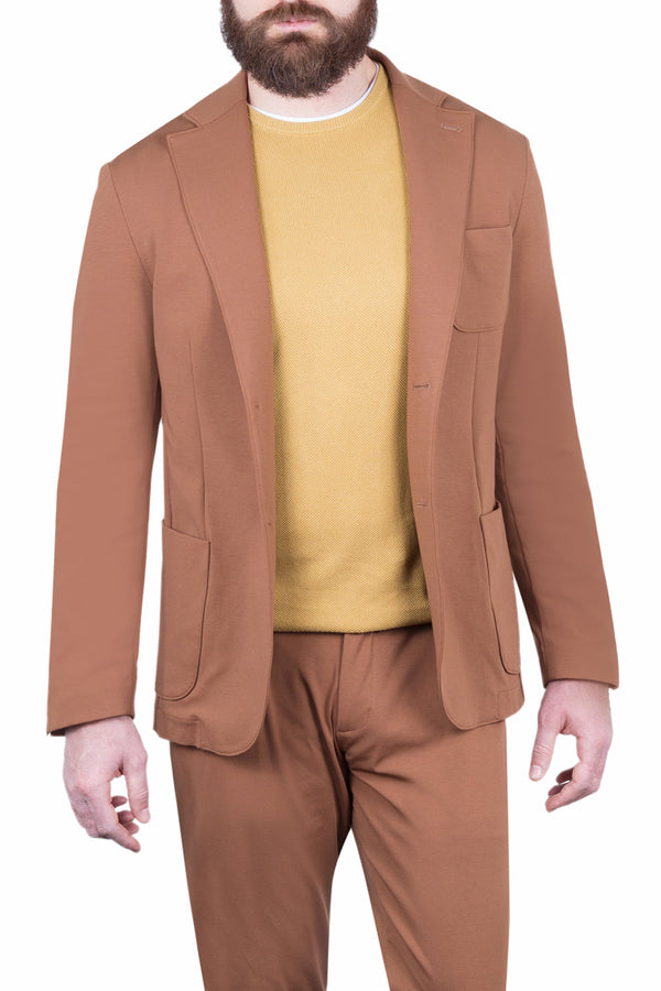 MONTEZEMOLO Men's Clothing - Jackets - Jersey Cotton Blend Tecno-Silk Jacket - www.montezemolostore.com