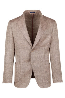 MONTEZEMOLO Men's Clothing - Jackets - Herringbone Cotton & Silk Jacket - www.montezemolostore.com
