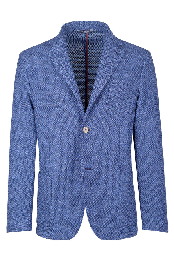 MONTEZEMOLO Men's Clothing - Jackets - Jersey Jacquard Cotton Jacket - www.montezemolostore.com