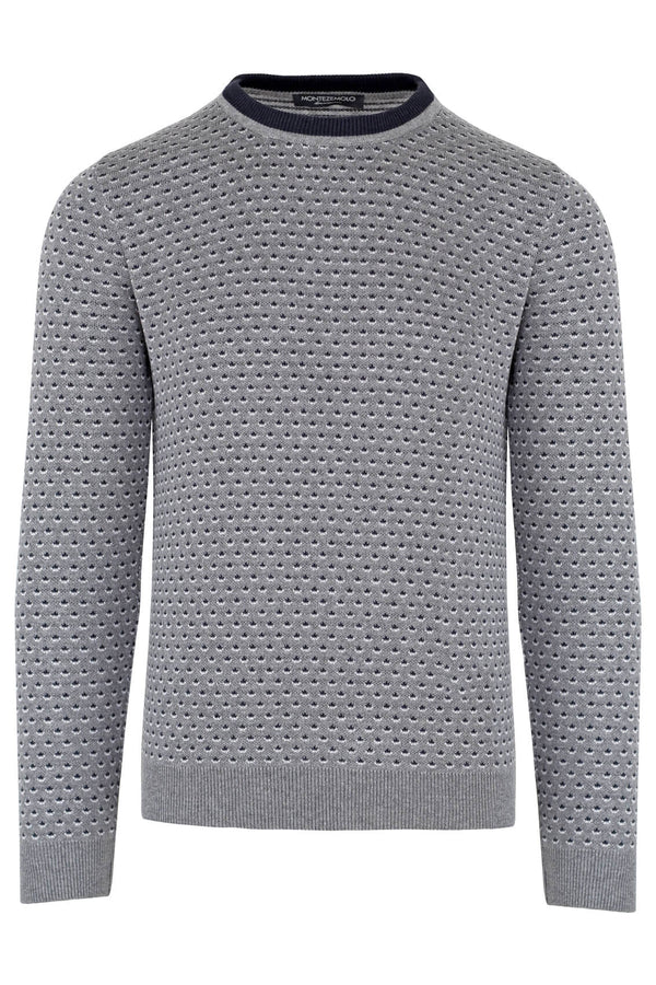 MONTEZEMOLO Men's Clothing - Knitwear - Fancy Crewneck - www.montezemolostore.com