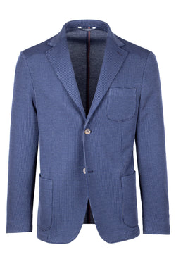 MONTEZEMOLO Men's Clothing - Jackets - Fancy Jacquard Jersey Cotton Jacket - www.montezemolostore.com