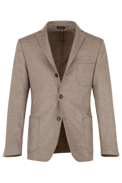 Check Silk & Cashmere Jacket