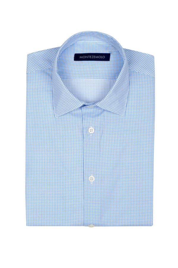 MONTEZEMOLO Men's Clothing - Shirts - Fancy Printed Cotton Shirt - www.montezemolostore.com