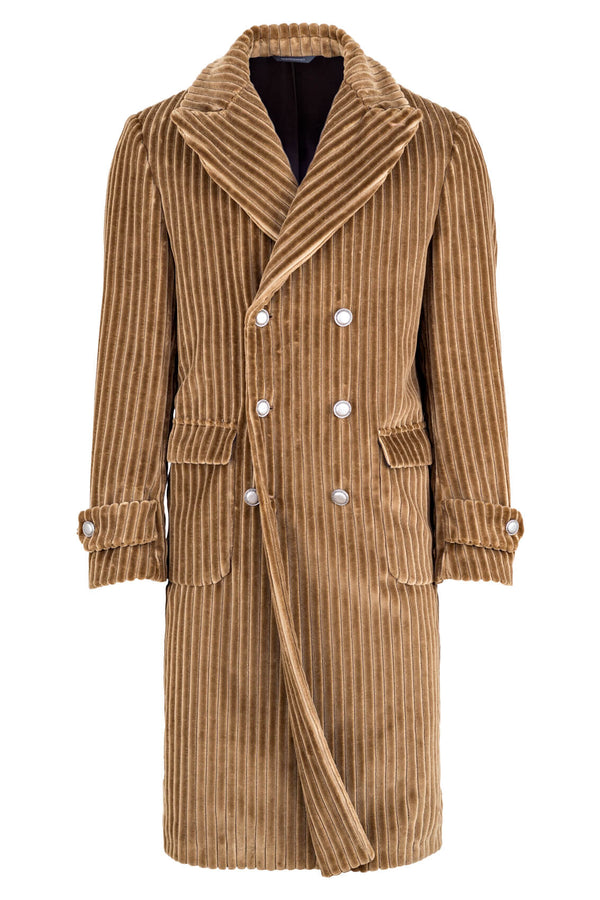 Heavy Corduroy Long Trench-Coat