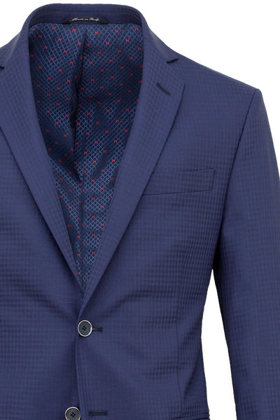 Faux-Uni Blue Stretch Wool Suit , Suits - MONTEZEMOLO www.montezemolostore.com - 2