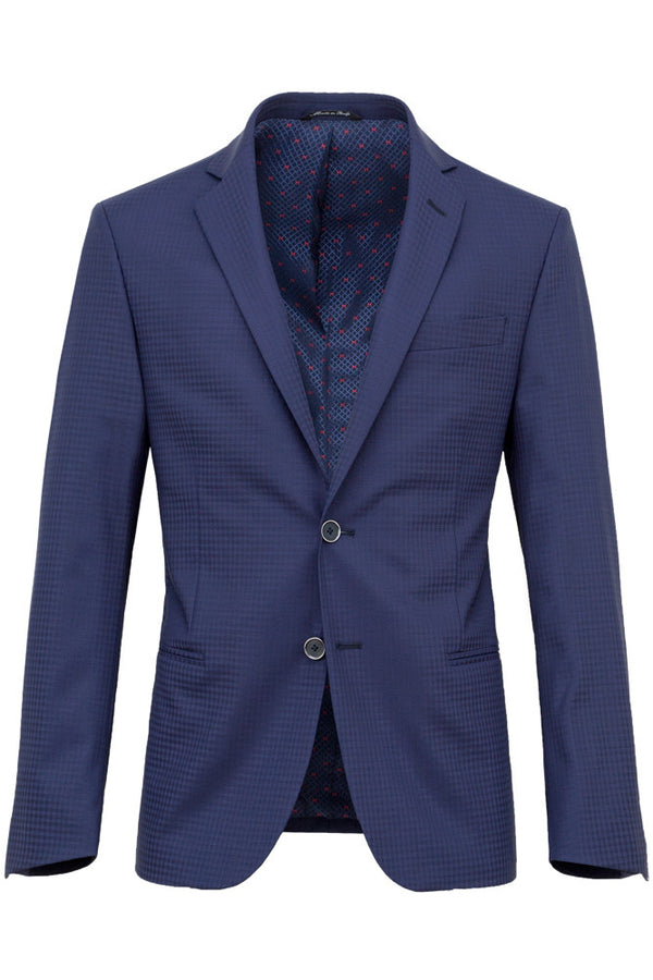 MONTEZEMOLO - Suits - Faux-Uni Blue Stretch Wool Suit - MONTEZEMOLO