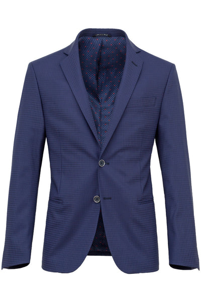 Faux-Uni Blue Stretch Wool Suit , Suits - MONTEZEMOLO www.montezemolostore.com - 3