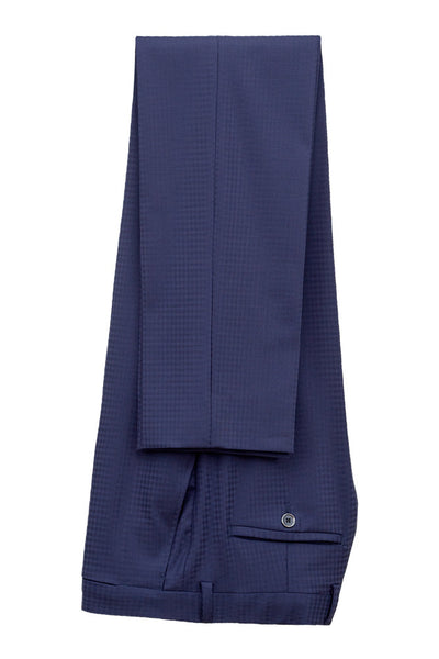 Faux-Uni Blue Stretch Wool Suit , Suits - MONTEZEMOLO www.montezemolostore.com - 5