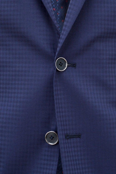 Faux-Uni Blue Stretch Wool Suit , Suits - MONTEZEMOLO www.montezemolostore.com - 9