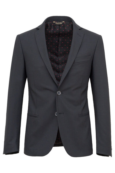 Faux-Uni Black Stretch Wool Suit , Suits - MONTEZEMOLO www.montezemolostore.com - 2