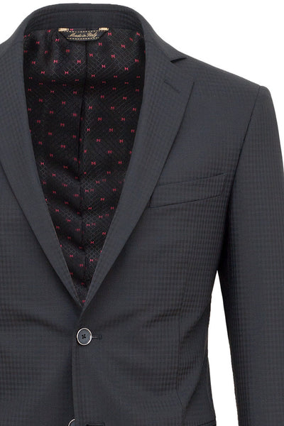 Faux-Uni Black Stretch Wool Suit , Suits - MONTEZEMOLO www.montezemolostore.com - 4