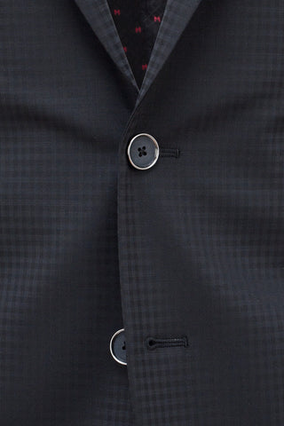 Faux-Uni Black Stretch Wool Suit , Suits - MONTEZEMOLO www.montezemolostore.com - 8