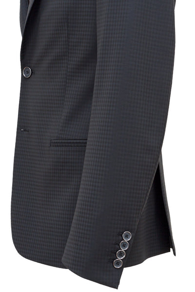 Faux-Uni Black Stretch Wool Suit , Suits - MONTEZEMOLO www.montezemolostore.com - 5
