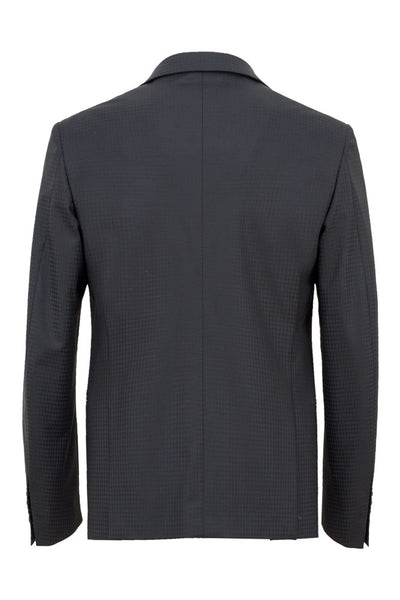 Faux-Uni Black Stretch Wool Suit , Suits - MONTEZEMOLO www.montezemolostore.com - 6