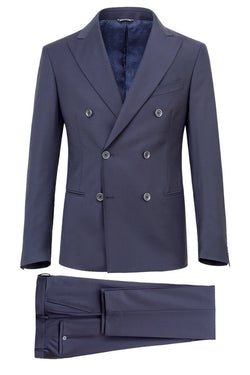 MONTEZEMOLO Men's Clothing - Suits - Doublebreasted Wool Voile Suit - www.montezemolostore.com