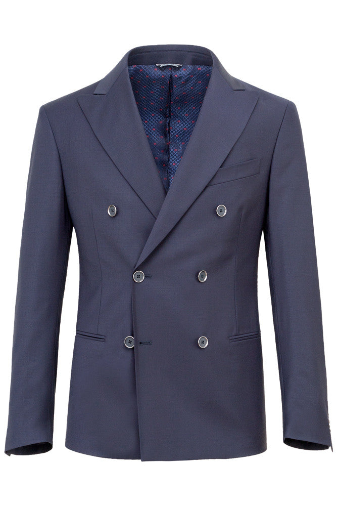 MONTEZEMOLO - Suits - Doublebreasted Wool Voile Suit - MONTEZEMOLO