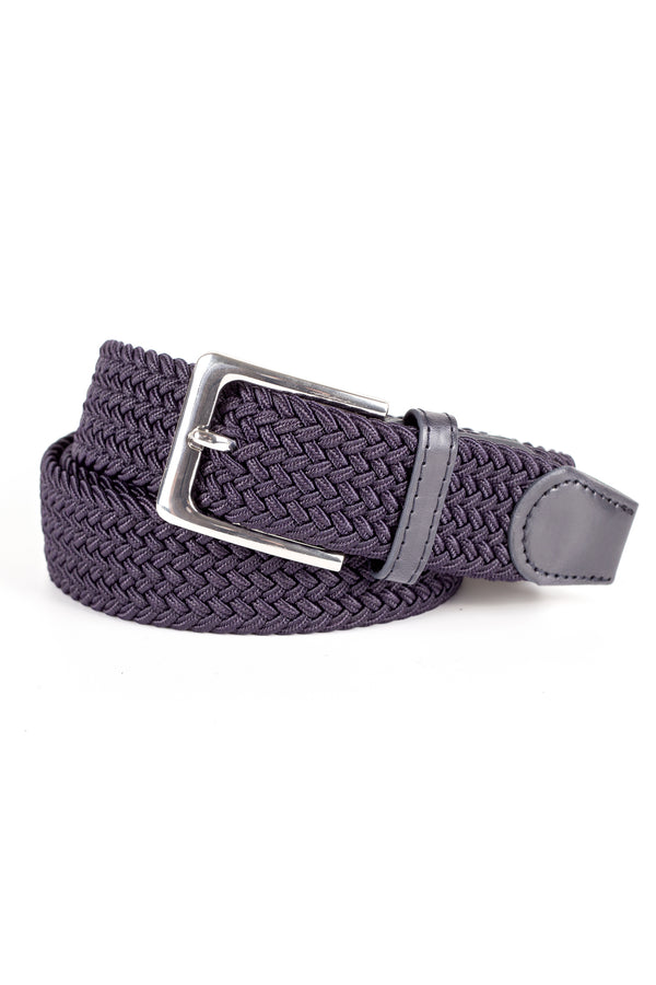 MONTEZEMOLO Men's Clothing - Belt - Woven Stretch Viscose Belt - www.montezemolostore.com