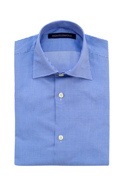 MONTEZEMOLO - Shirts - Checkered Cotton Shirt - MONTEZEMOLO