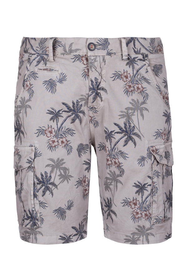 Printed Delavè Cargo Shorts