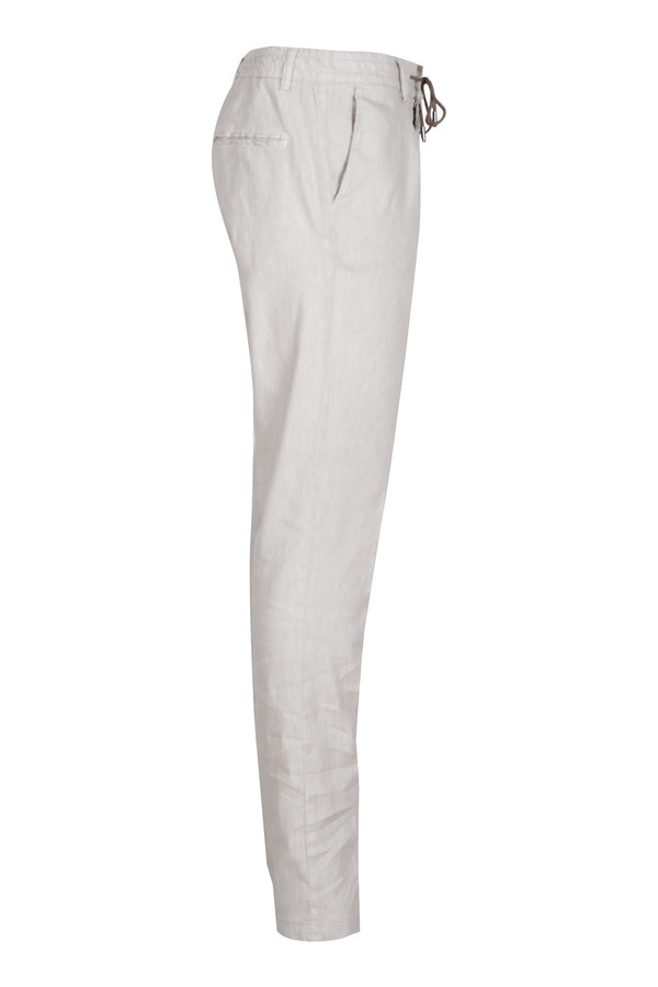MONTEZEMOLO Men's Clothing - Trousers - Drawstring Linen Blend Trousers - www.montezemolostore.com
