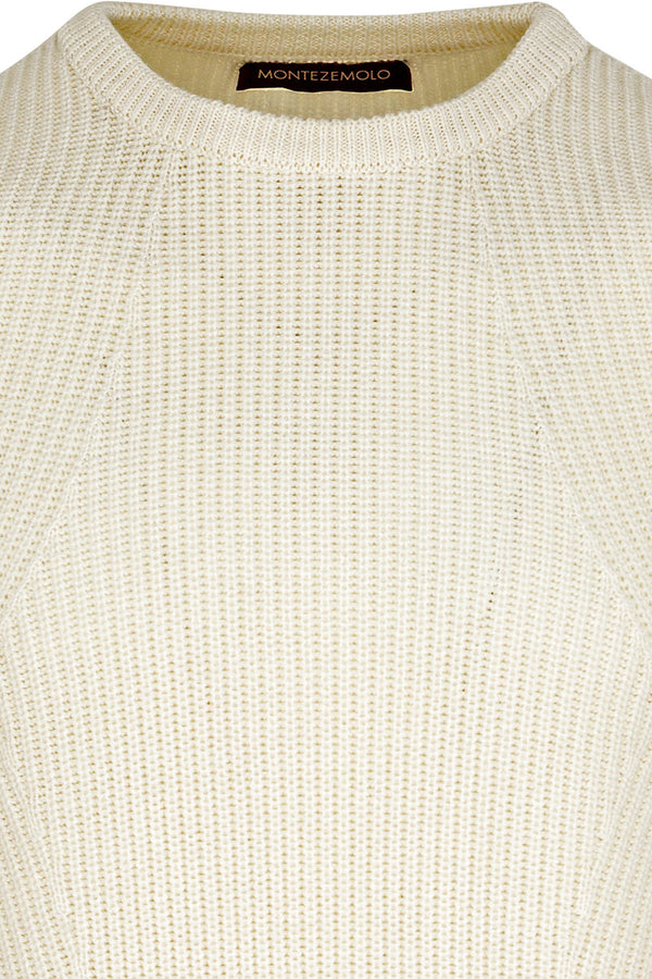 Wool Blend Ribbed Crewneck