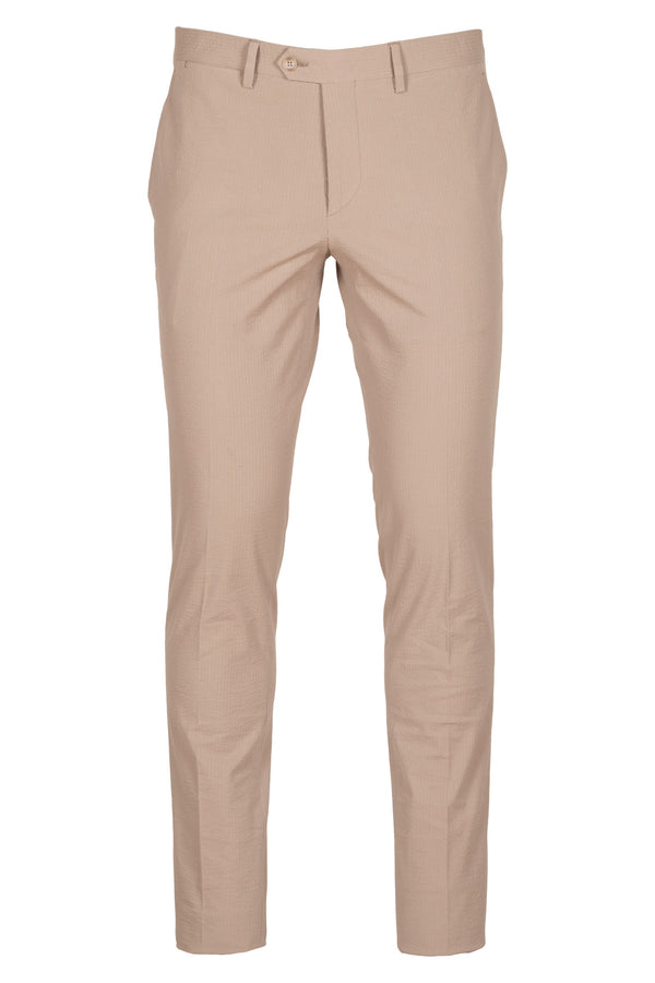 MONTEZEMOLO Men's Clothing - Trousers - Seersucker Chino Trousers - www.montezemolostore.com