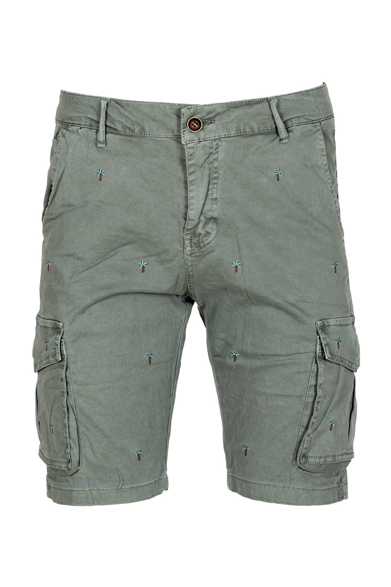 MONTEZEMOLO Men's Clothing - Shorts - Embroidered Cargo Shorts - www.montezemolostore.com