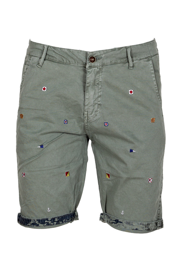 MONTEZEMOLO Men's Clothing - Shorts - Embroidered Classic Shorts - www.montezemolostore.com