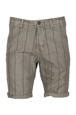 MONTEZEMOLO Men's Clothing - Shorts - Striped Linen & Cotton Shorts - www.montezemolostore.com