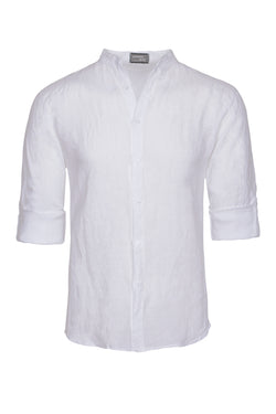 MONTEZEMOLO Men's Clothing - Shirts - Korean Pure Linen Shirt - www.montezemolostore.com