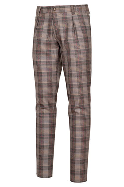 Prince-of-Wales Check Fancy Trousers