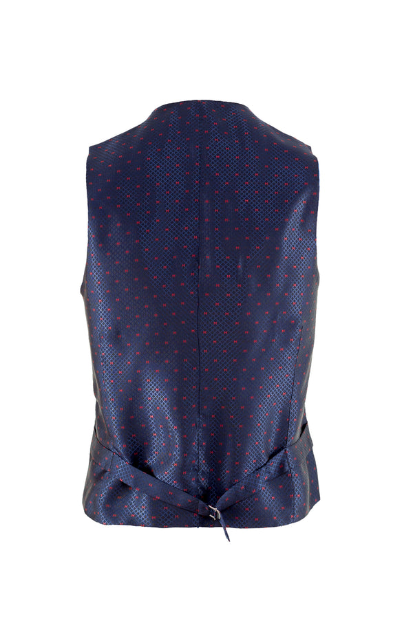 MONTEZEMOLO Men's Clothing - Vests - Fancy Printed Red Carpet Waistcoat - www.montezemolostore.com