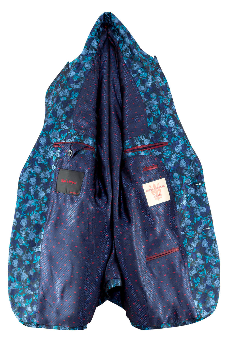MONTEZEMOLO Men's Clothing - Jackets - Floral Jacquard Red Carpet Jacket - www.montezemolostore.com