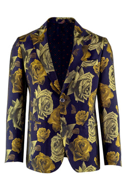 MONTEZEMOLO - Jackets - Floral Brocade Red Carpet Jacket - MONTEZEMOLO