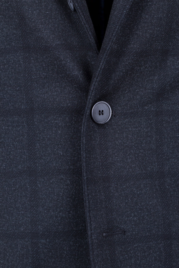 Windowpane Check Jersey Jacket