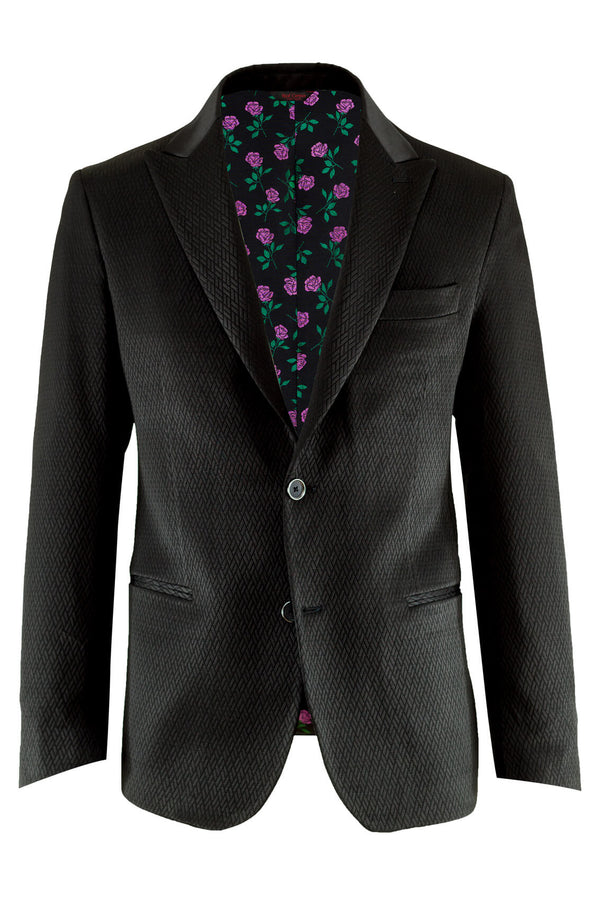 MONTEZEMOLO Men's Clothing - Jackets - Macro Jacquard Red Carpet Jacket - www.montezemolostore.com