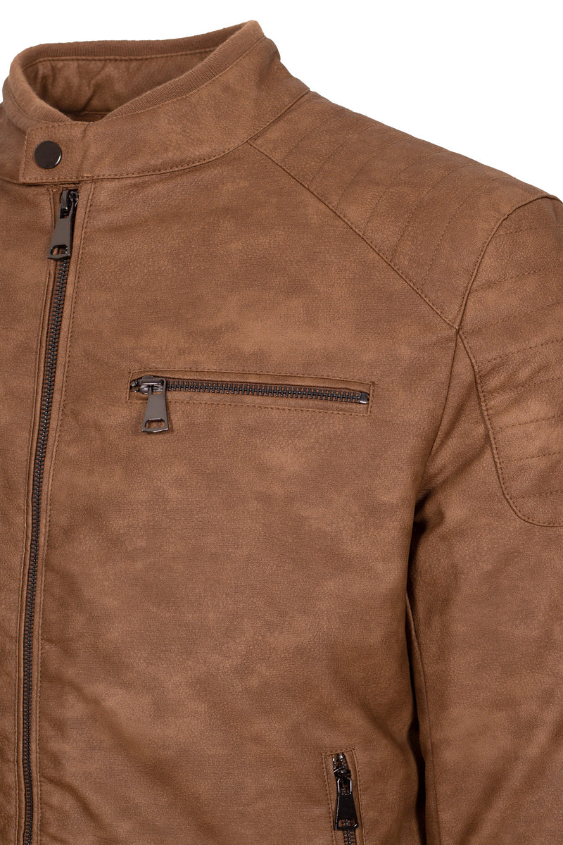 Eco-Leather Biker Jacket