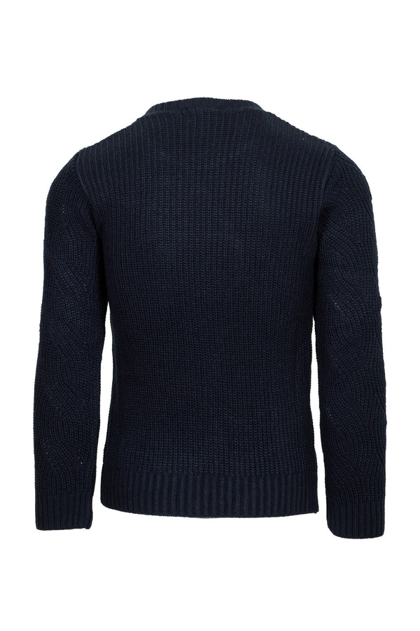 Wool Blend Cable-Knit Crewneck