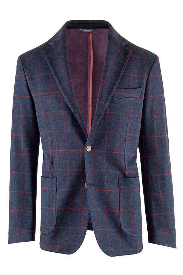 MONTEZEMOLO - Jackets - Check Cotton&Wool Blend Jacket - MONTEZEMOLO