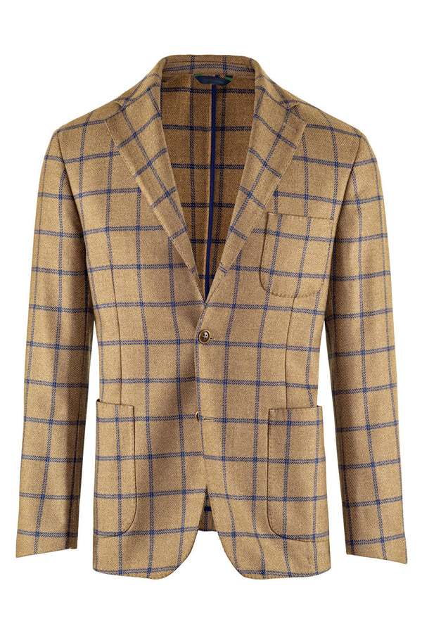 Tweed Check Wool&Silk Jacket