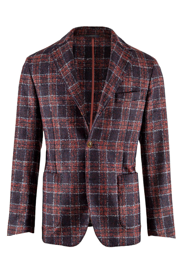 MONTEZEMOLO Men's Clothing - Jackets - Check Suri Alpaca & Wool Jacket - www.montezemolostore.com